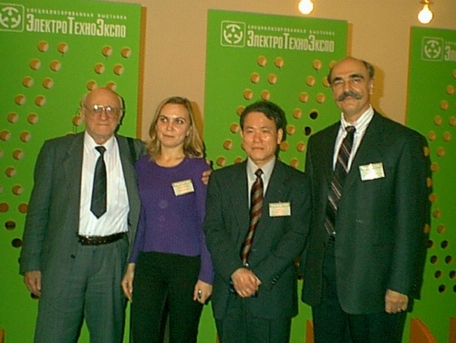 Left to right: Professor Dariy Y. Svet, Nadya Shungina, Professor Tohru Iuchi, Ralph Felice